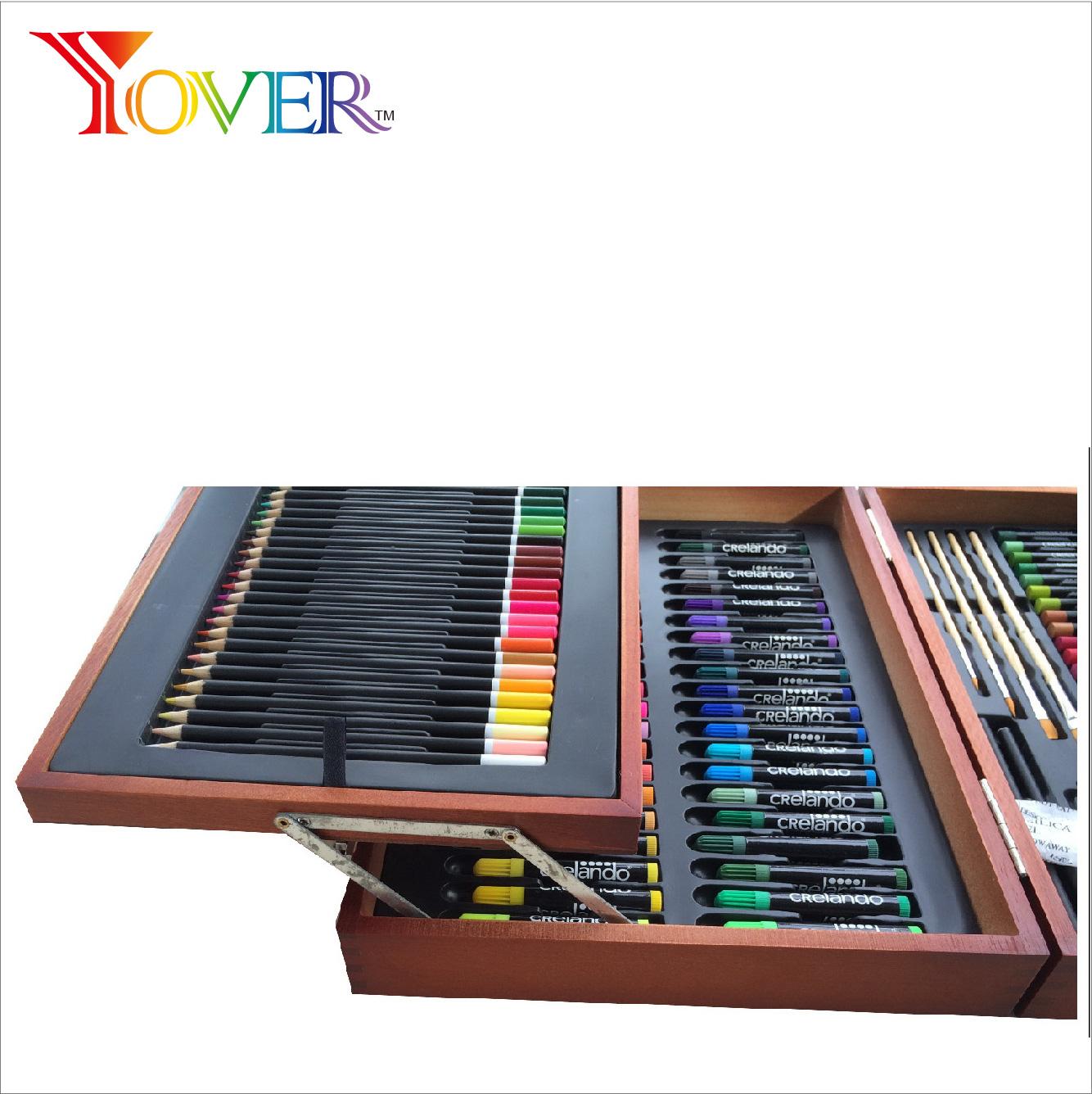 kit de arte profesional para ni/ños adolescentes y adultos Juego de 145 piezas de arte de lujo juego de dibujo y pintura suministros de equipo de arte en caja de aluminio port/átil