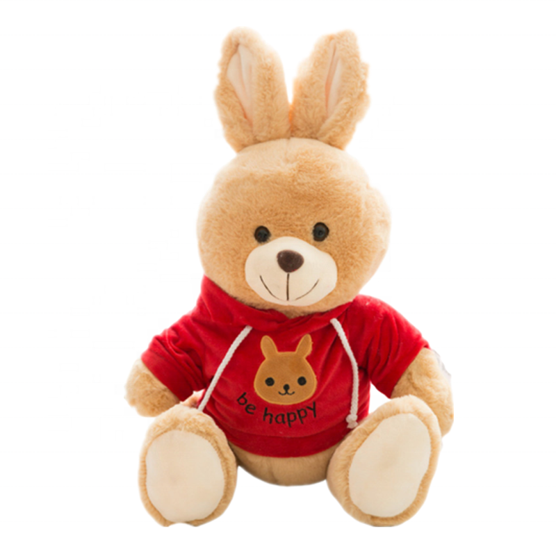 Plush easter bunny stuffed animal plush <strong>rabbit</strong> with clothes