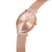 Rose Gold Plating Fossill Watch With Low Moq Custom Wrist Watch