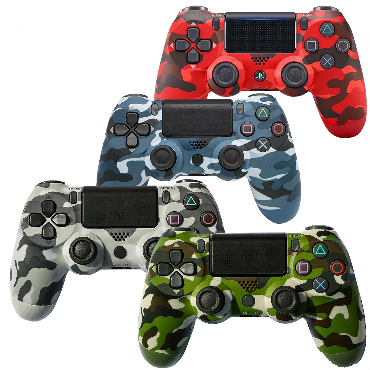 In Stock Camouflage Color Wireless Multiple Vibration 6 Axies Gamepad Joystick Game PS4 <strong>Controller</strong>