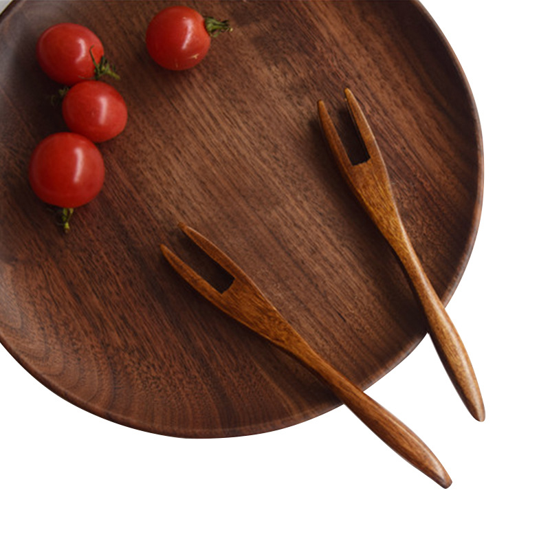 food picks reusable kids wooden fruit fork