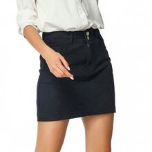 Black Large Size Loose Thin Half-length Denim <strong>Skirt</strong>
