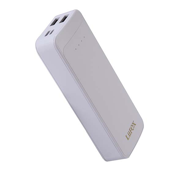 LUFOX BSCI SEDEX factory 10000mah quick charger 2 outputs power bank