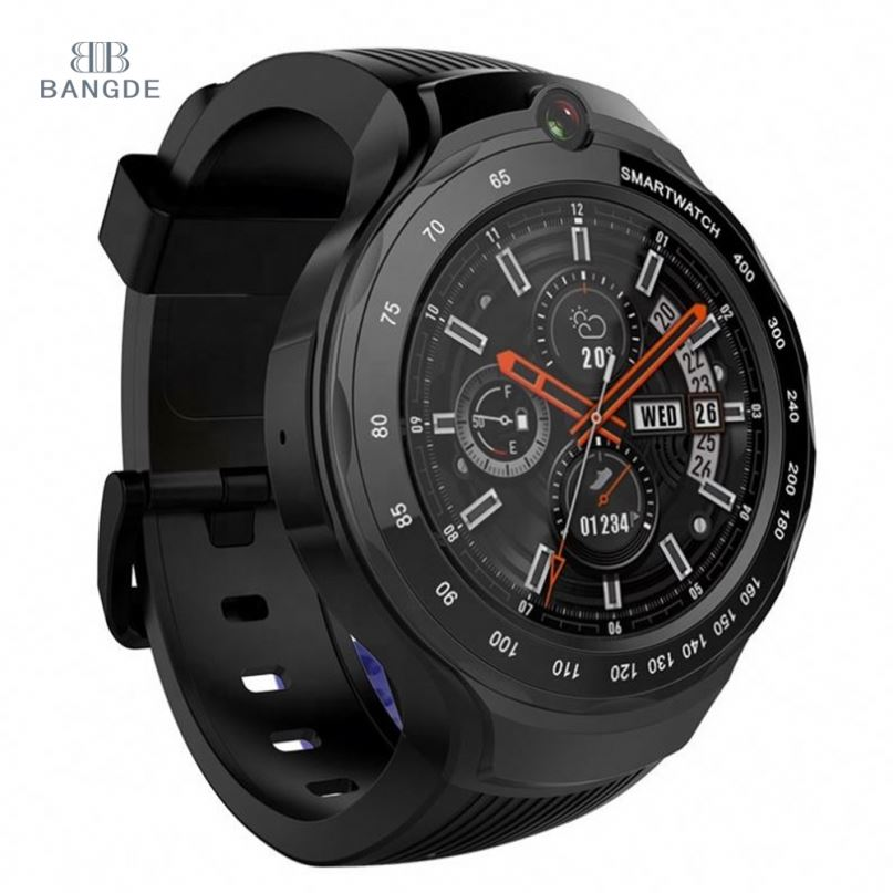 Bluetooth 4.0 Zeblaze 4G MT6739 smart watch AMOLED full touch <strong>screen</strong> display smartwatch phone with double camera 2.0 MP