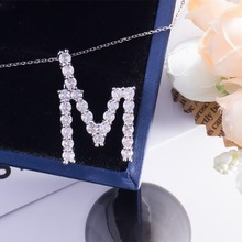 Custom gold diamond jewelry moissanite name <strong>necklace</strong> personalised letter pendant <strong>necklace</strong> for women wholesale price