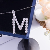 Silver 10k 14K 18k customized gold necklace wedding jewelry lettered name design with moissanite stone for women lover