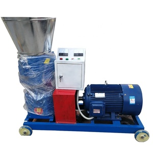 Automatic animal feed pellet machine/flat die poultry cattle feed pellet machine with factory price