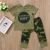 CHUXUN 2pcs Newborn Toddler Army Green Baby Boy Girl Letter T-shirt Tops Pants Outfits Set Clothes 0-24M Infant Boy Clothing