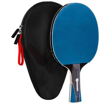 Table Tennis Racket Paddle Ping Pong Bat  5 Ply Carbon Wooden