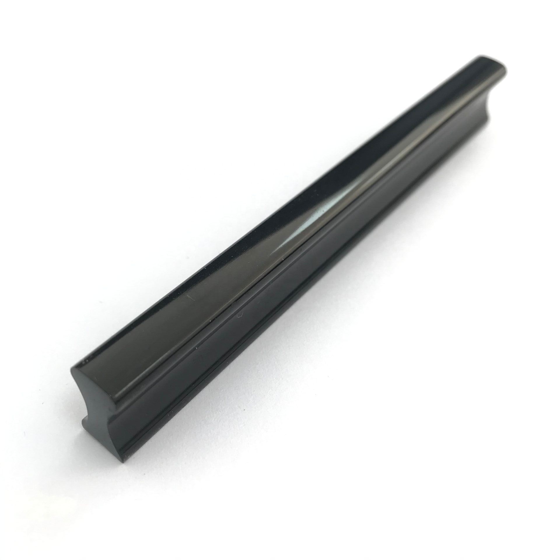 64mm 96mm 128mm 160mm High Quality Matt Black & Shiny Black Furniture Cabinet Drawer Aluminum Profile Strip Pull Handle