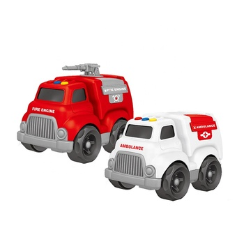 Wholesale Plastic Toy Kids Plastic Car Toys Freewheel Toy Trucks With Light & Music