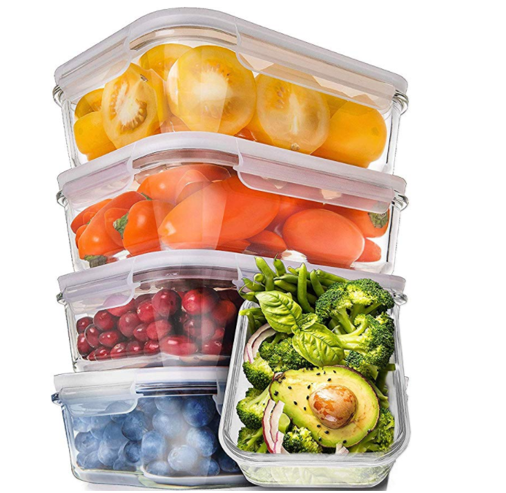 Prep Naturals Glass Meal Prep Containers Food Containers with Lids Meal Prep Food Storage Containers Airtight