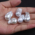High luster 16-18mm loose white big baroque pearls making necklace earrings