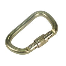 Factory High Quality Oval 45KN Swivel Locking Steel Carabiner Snap <strong>hooks</strong> for climbing