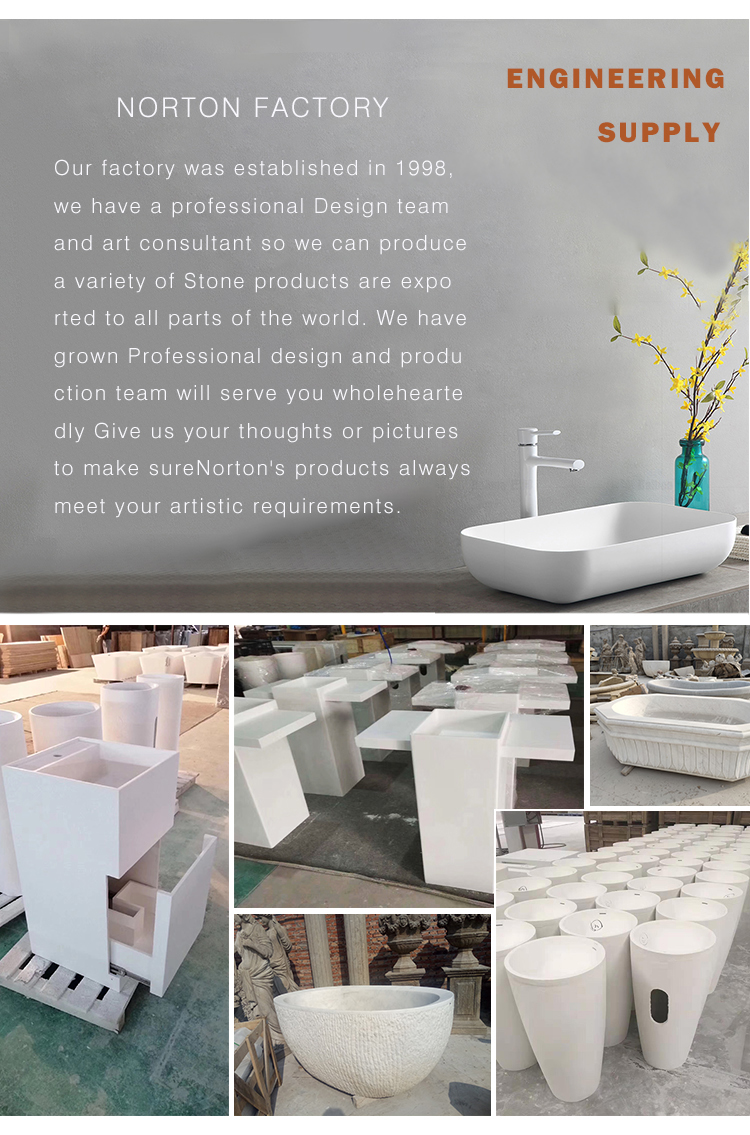 Factory supply marble sink public toilet countertop solid surface artificial stone wash basin for sale