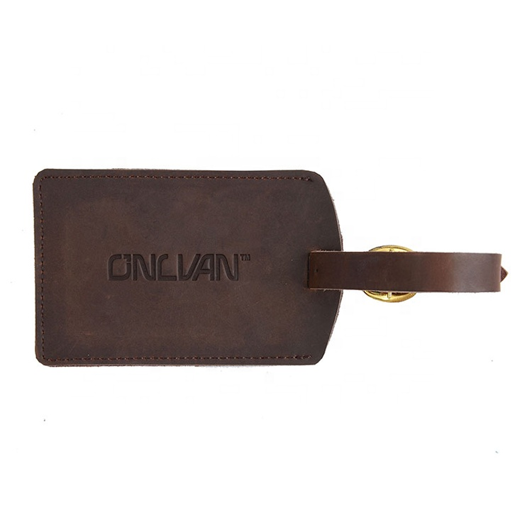 faux leather luggage tags