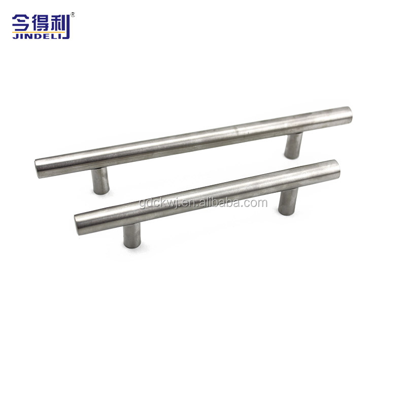 chrome kitchen cabinet aluminum t bar pulls stainless steel door handle drawer cabinet handle