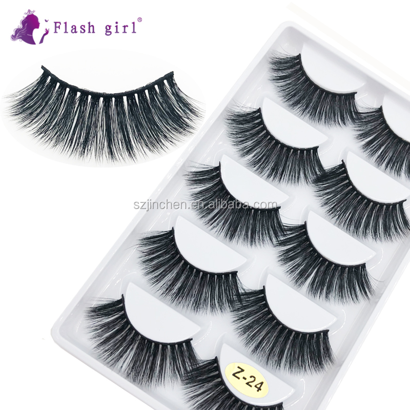Flash Girl Hot Sale <strong>Z</strong> series 5 pairs 3D Professional soft and silk <strong>100</strong>% Handmade False Eyelashes DHL Free Shipping