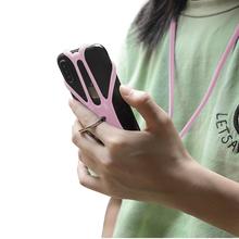 High flexible universal silicone <strong>phone</strong> case lanyard with ring holder for 4.0-6.5&quot; <strong>mobile</strong> <strong>phone</strong>