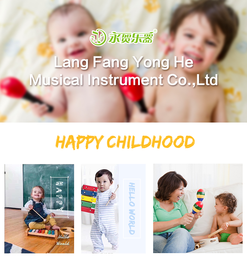 Hot sale kids percussion musical instrument wooden sticks claves