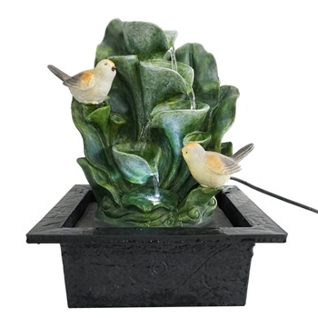 birds resin crafts animal decorative tabletop ornamental water fountain
