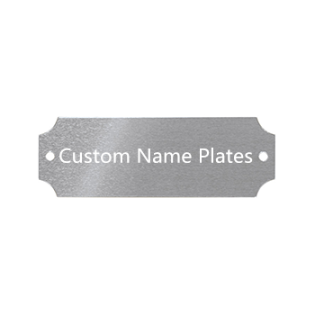 Factory <strong>Price</strong> 2&quot;<strong>x10</strong>&quot; Aluminum Name Plate Office Business Desk Signs UV Printing Name Badges