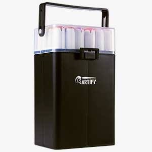 Artify 24 Colors Skin Tone Markers Dual Tip Twin Marker Set, Alcohol Based Art Marker Set with Black Carrying Case