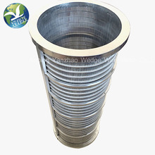 304 316 Stainless Steel Wedge Wire Sieve Johnson Filter <strong>Mesh</strong> With Stiffeners Screen For Water Well Drilling