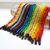 Lovely color jump rope wooden handle poly cotton rope handle