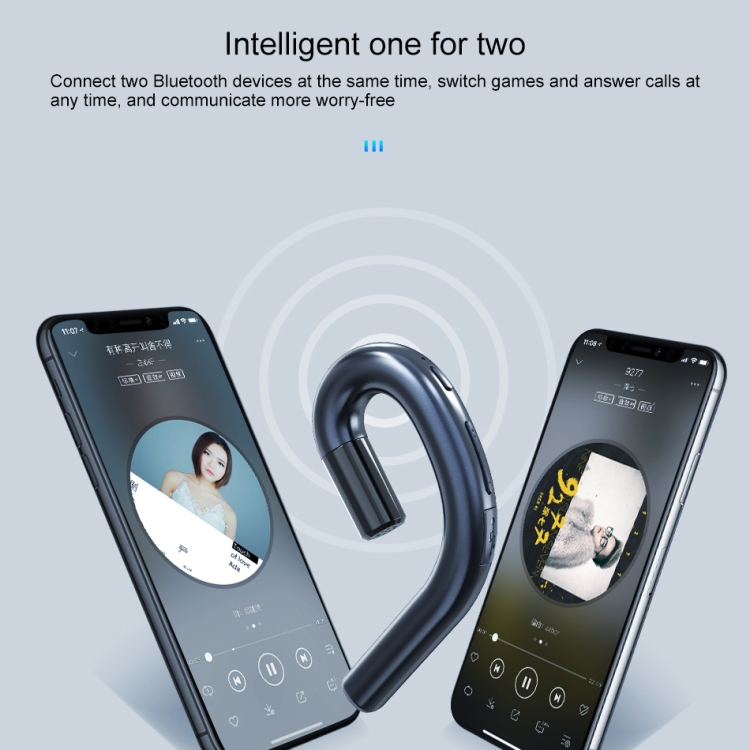 New Products Wireless V4.2 Ear-hook Business Earphone with Mic