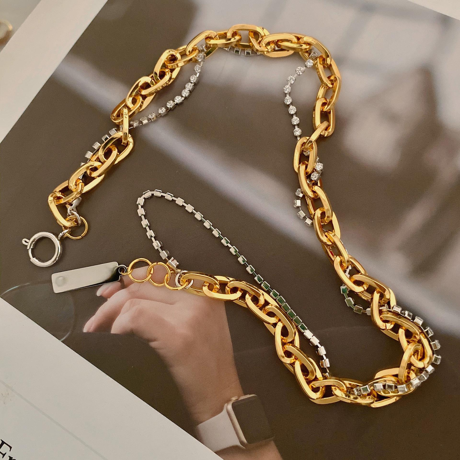 HOT SALE Stainless Steel Necklace Gold Plated New Design Necklaces Hip Hop Necklace jewelry Dylam jewelry