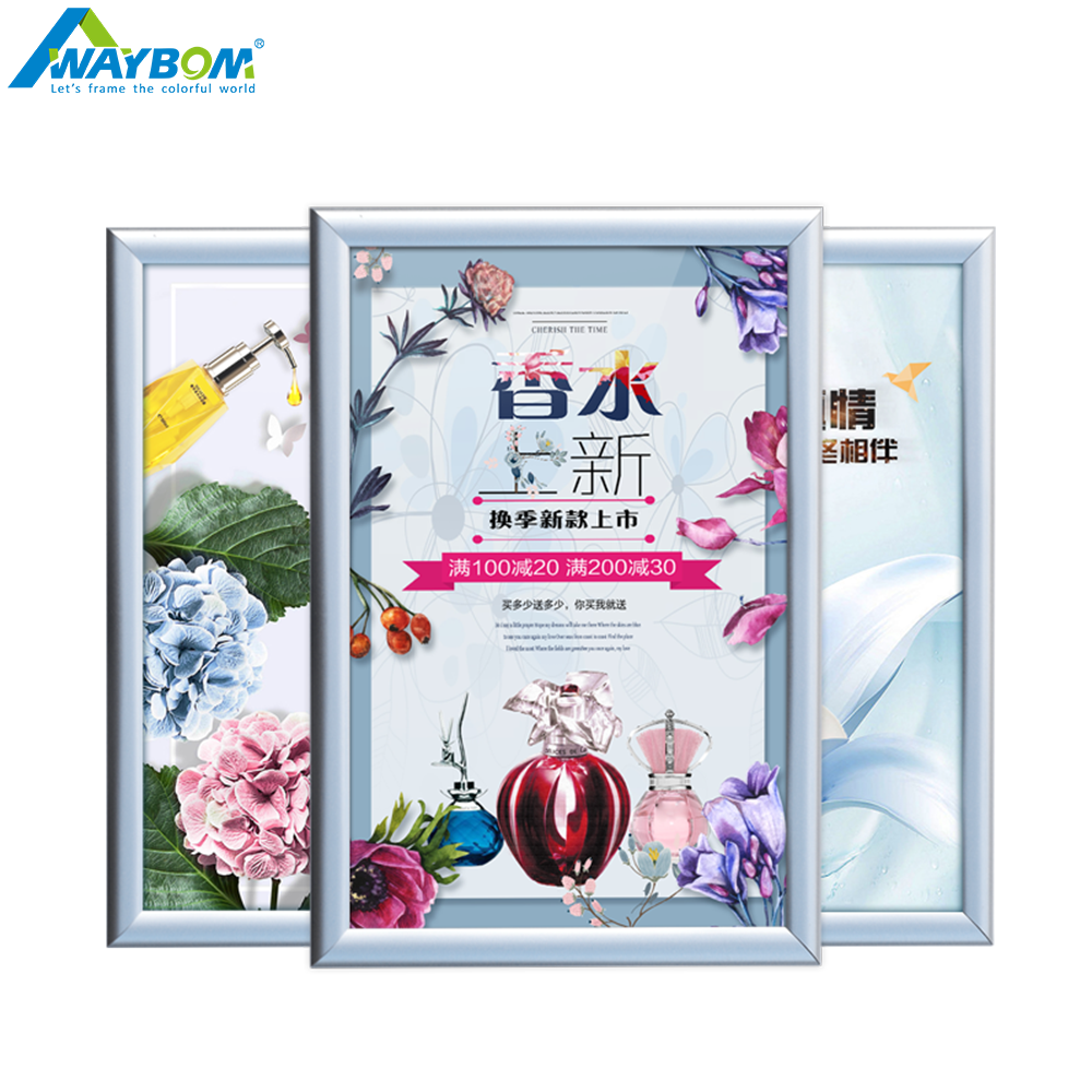 New Style A1 A2 A3 A4 <strong>A0</strong> Custom Metal Led Black Snap Aluminum <strong>Poster</strong> <strong>frame</strong>