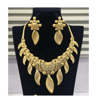 Set-235 xuping cubic zirconia bridal costume bridal jewelry set jewelries set 18k gold african 2018