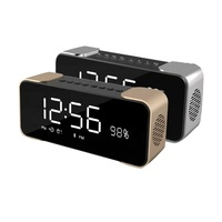 Home use audio system sound wireless bluetooth clock speaker
