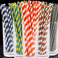 Amazon hot selling red paper straws bulk drinking straws biodegradable