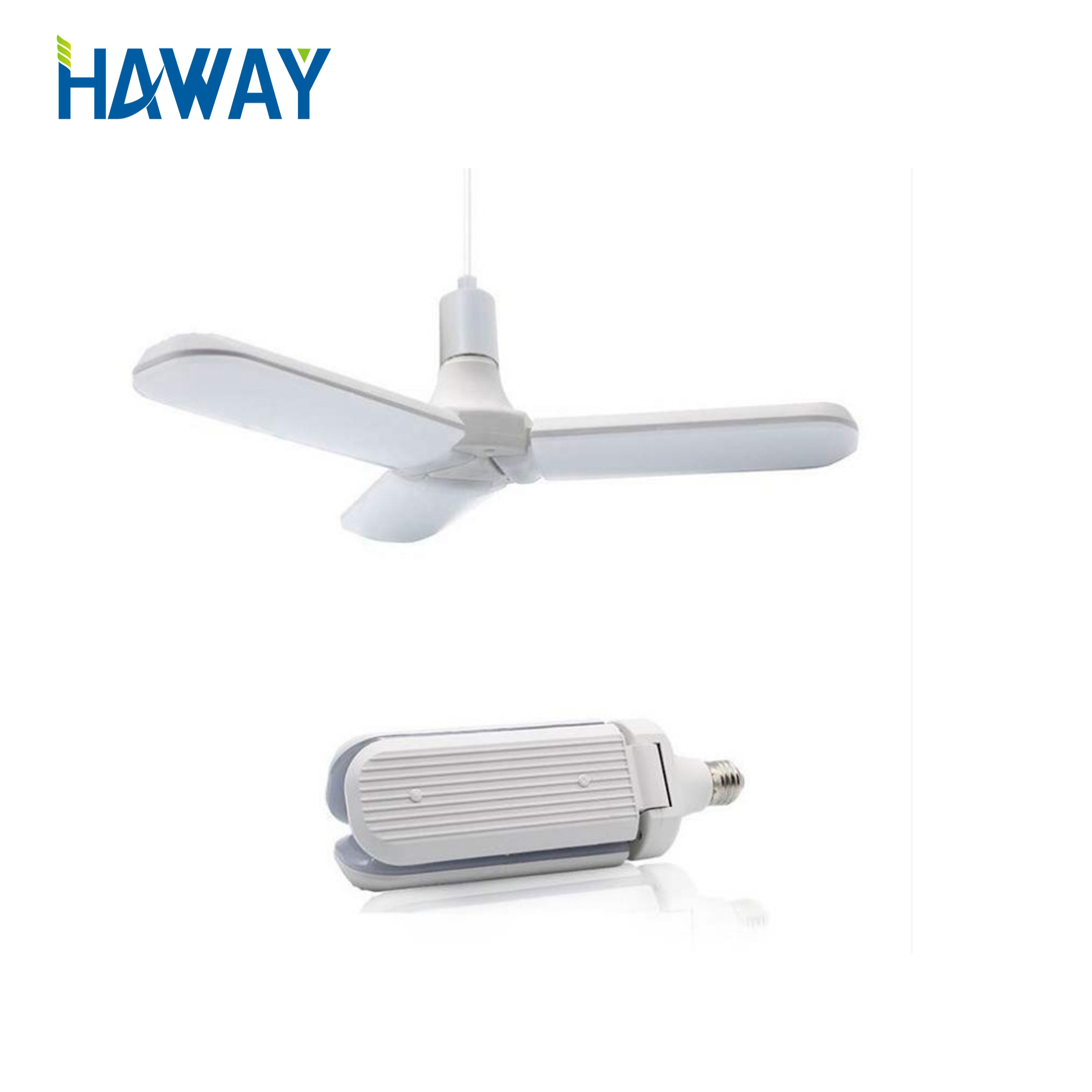 2019 high quality New Design super bright 45W High Bright Foldable Fan Blade LED Bulb Light <strong>E27</strong> Base 3000K 6500K