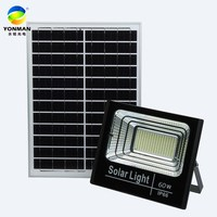 Aluminium housing high lumen smd integrated solar powered led outdoor garden solar flood light