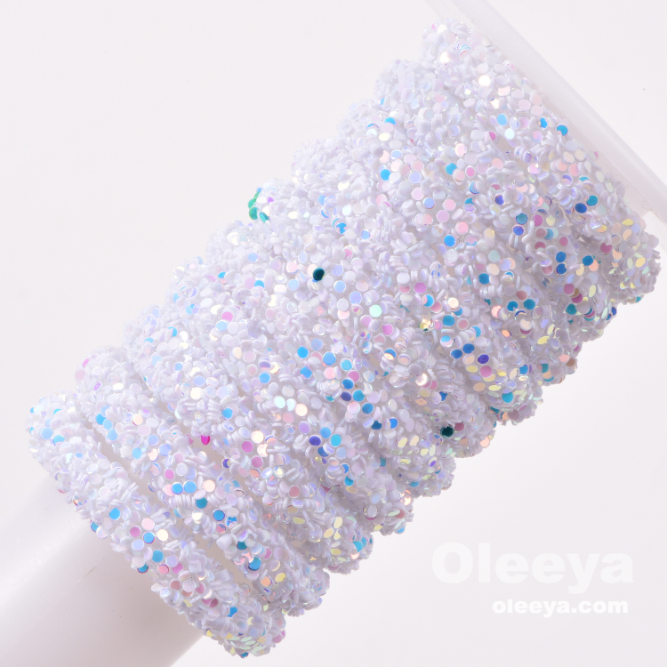 1 Yard 6mm Soft Tube Cord Rope String Resin Glitter Sequin Rope for Clothing Shoes Hairclips Bags Accessories DIY