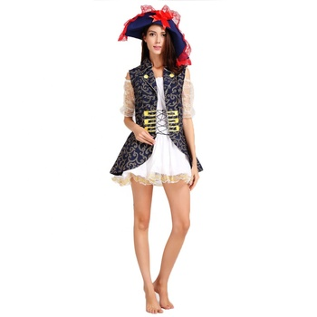 Best Wholesale Party Halloween Carnival Sexy Cosplay Adult Female Pirate Costume, Hot Sale Cheap Popular Polyester Women Costume