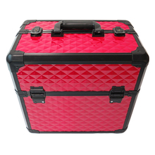 Red Aluminum Travel Makeup Case <strong>Brush</strong> Make Up Case