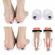 2019 New High Quality Footcare Heel Protector Gel Silicone Shoe Pads Cushion With 1pcs Magnet For O/<strong>X</strong> Leg Correction