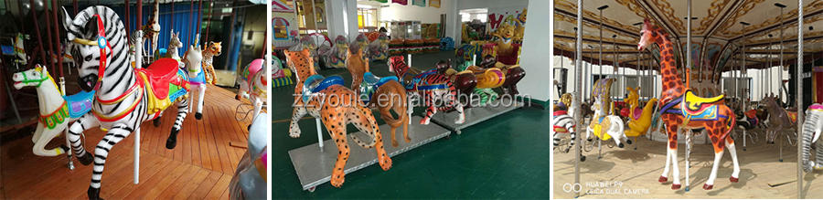 Children's indoor playground attractive portable carousel rides for sale