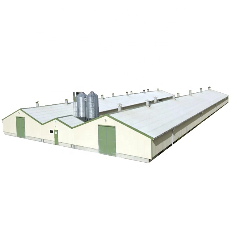 Easy to build prefabricated automatic poultry house for 10000 chickens manufacturer