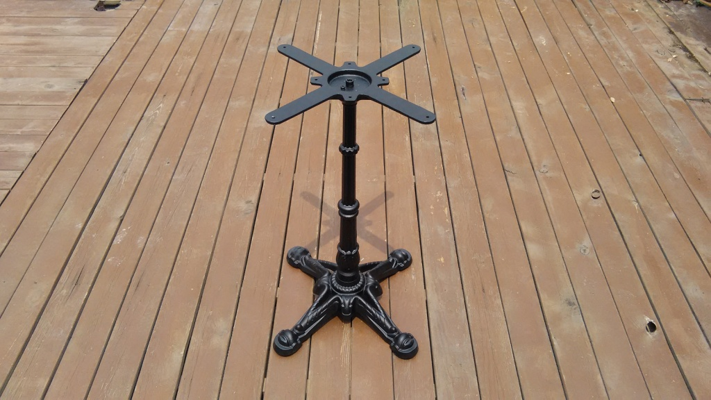 metal black outdoor leisure table base in France