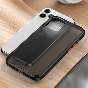 for iPhone 12 Pro Max Case, Slim Translucent Matte Hard PC Back TPU Bumper Hybrid Case For iPhone 12 Pro Max