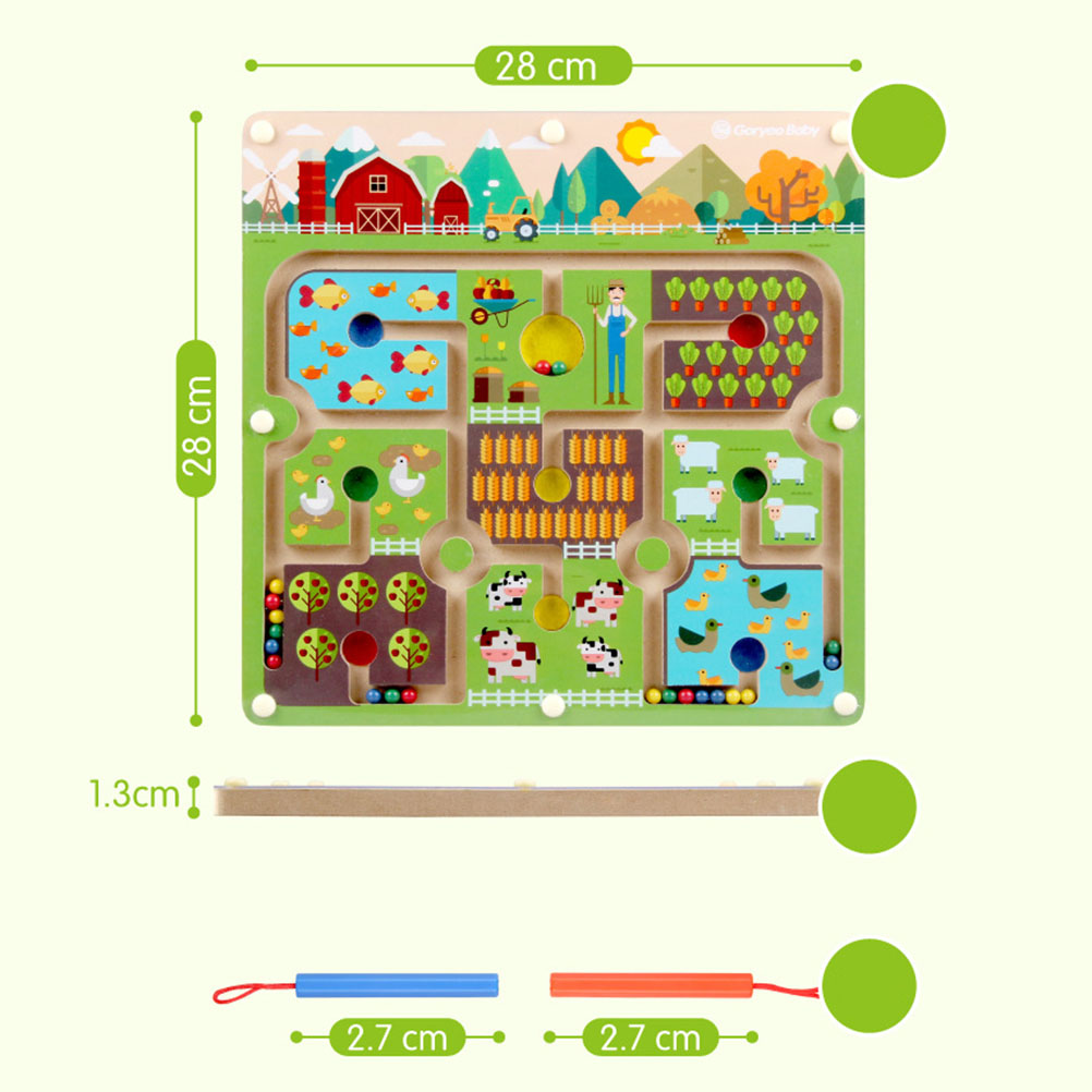Magnetic Farm Labyrinth Toys Children'S Early Education Game Jigsaw Parent-Child Interactive Educational Toys Children Gifts