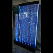 floor standing room divider acrylic water bubble wall with led tree tube