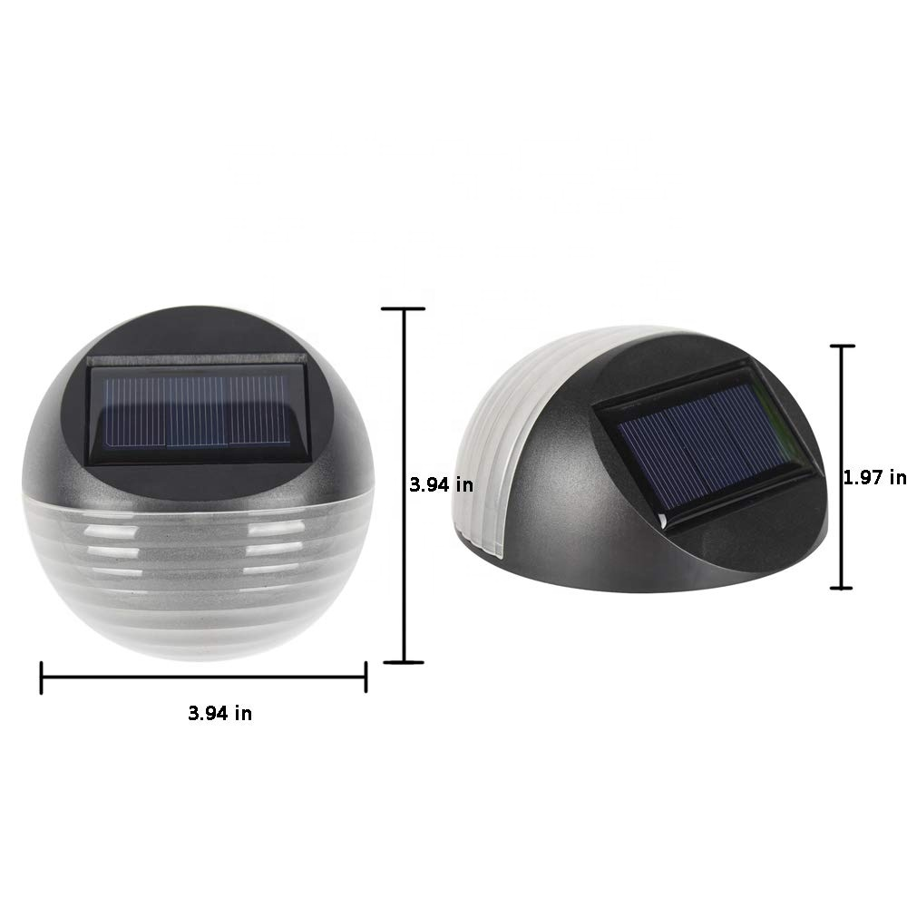 Solar <strong>Power</strong> Fence Lights Outdoor Solar Stair Lights 2 LED Step Light Wall Mount Garden Path Step Lights for Garden Fence Walkway