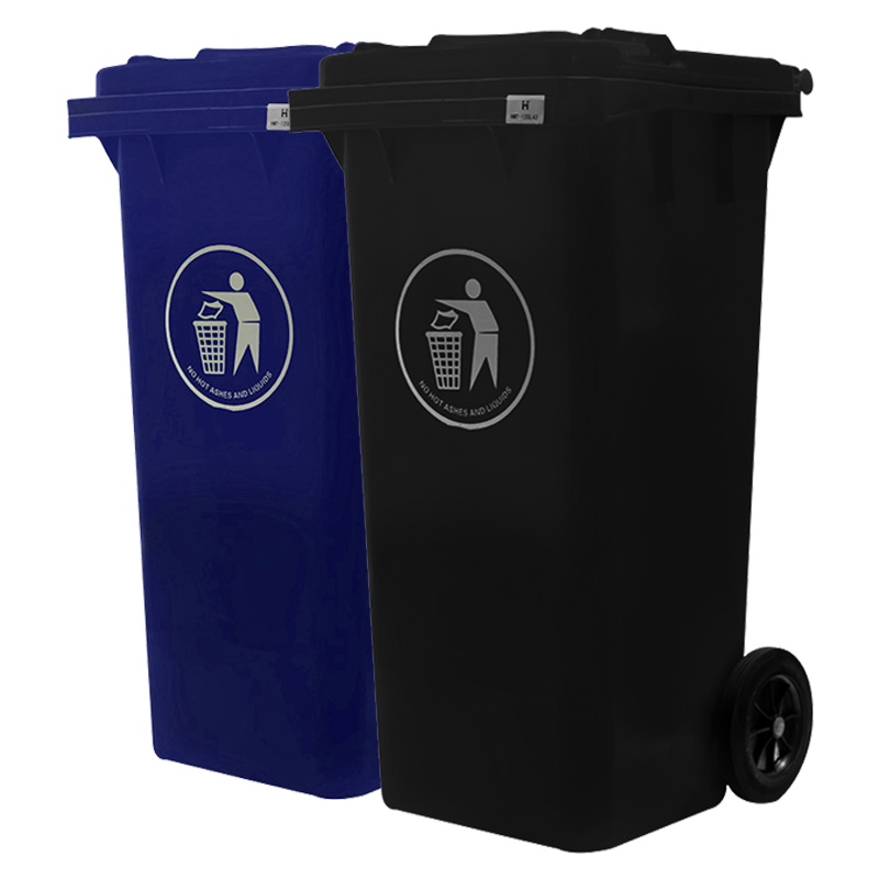 <strong>120</strong> l/liter outdoor plastic waste bin wheeled garbage container