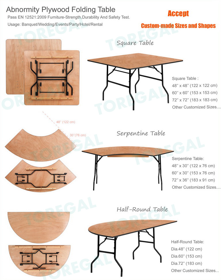 Folding Banquet Table Wedding